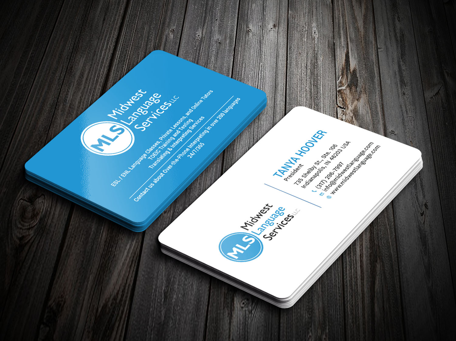 Serious, Modern, Business Business Card Design for Midwest Language ...