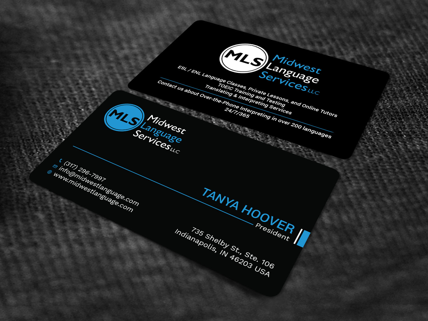 Serious modern business business card design for midwest language business card design by avanger000 for midwest language services llc design 17735507 reheart Choice Image