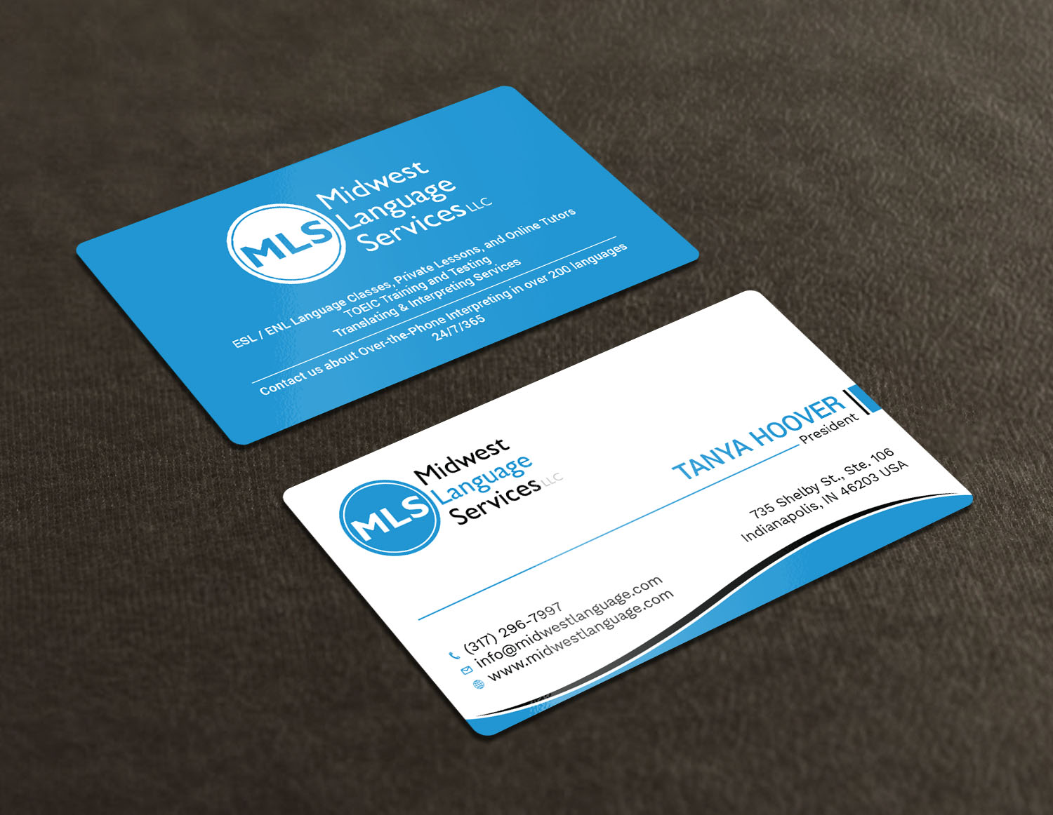 Serious modern business business card design for midwest language business card design by avanger000 for midwest language services llc design 17735718 reheart Choice Image