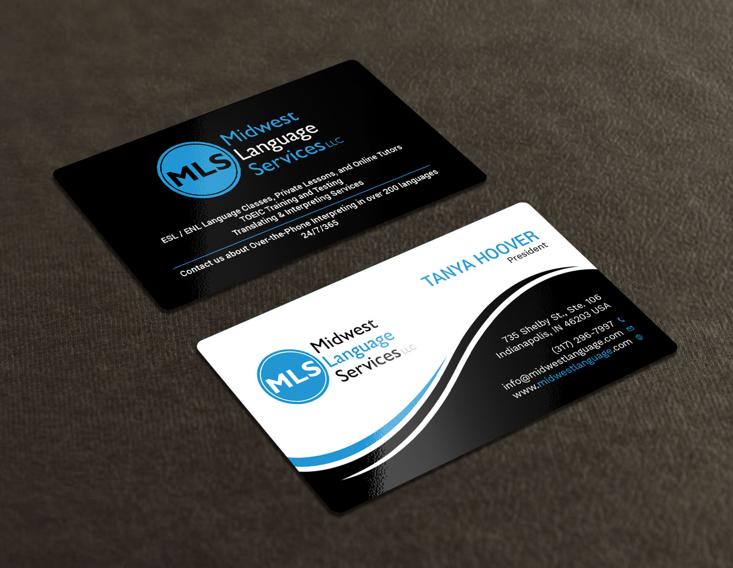 Serious modern business business card design for midwest language business card design by avanger000 for midwest language services llc design 17735776 reheart Choice Image
