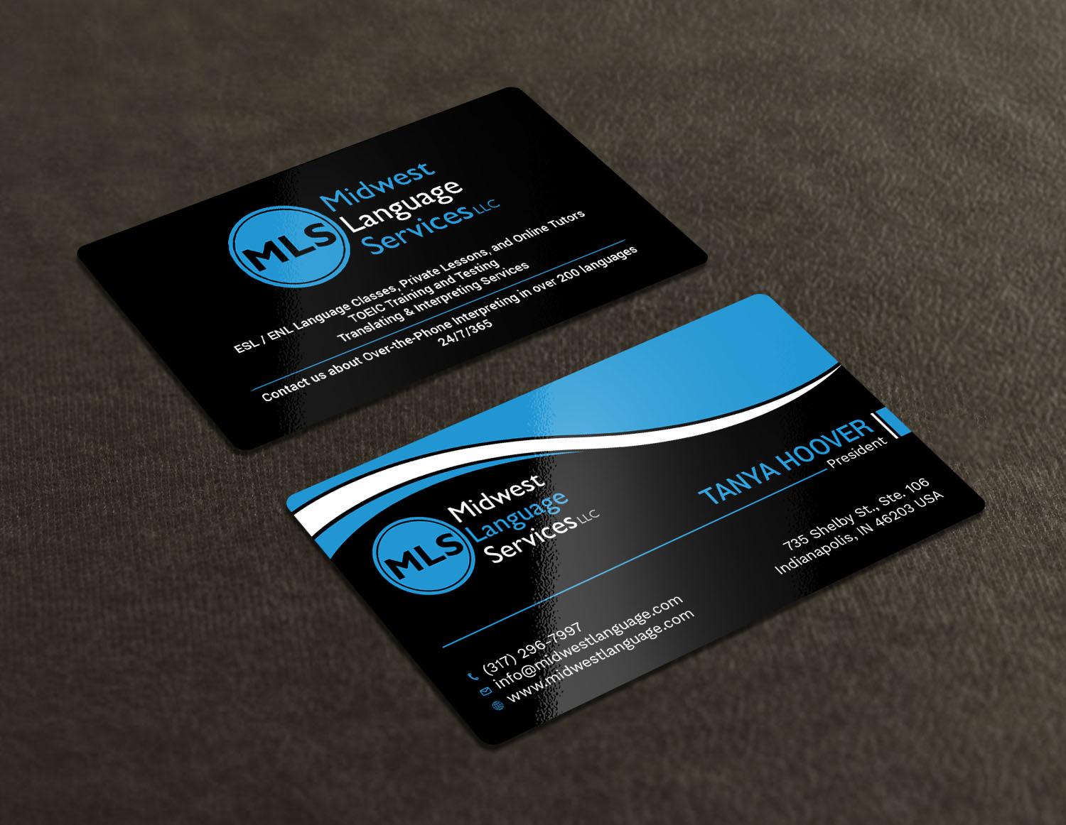 Serious modern business business card design for midwest language business card design by avanger000 for midwest language services llc design 17735784 reheart Image collections
