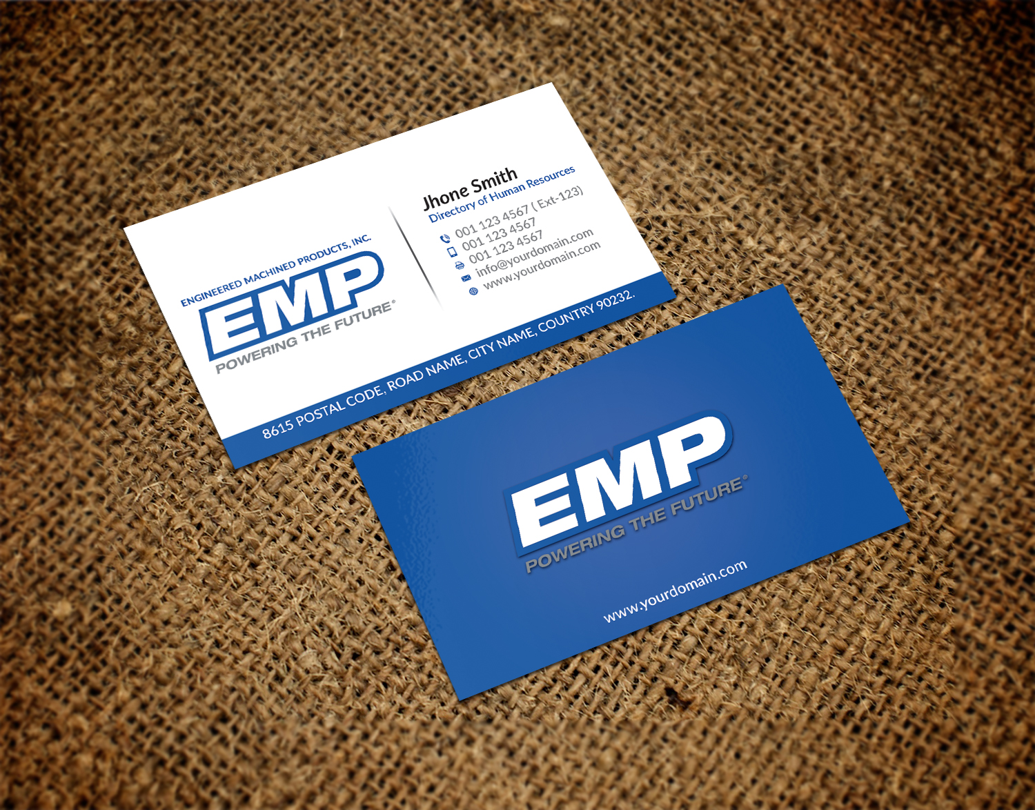 Bold, Serious Business Card Design for Engineered Machined ...