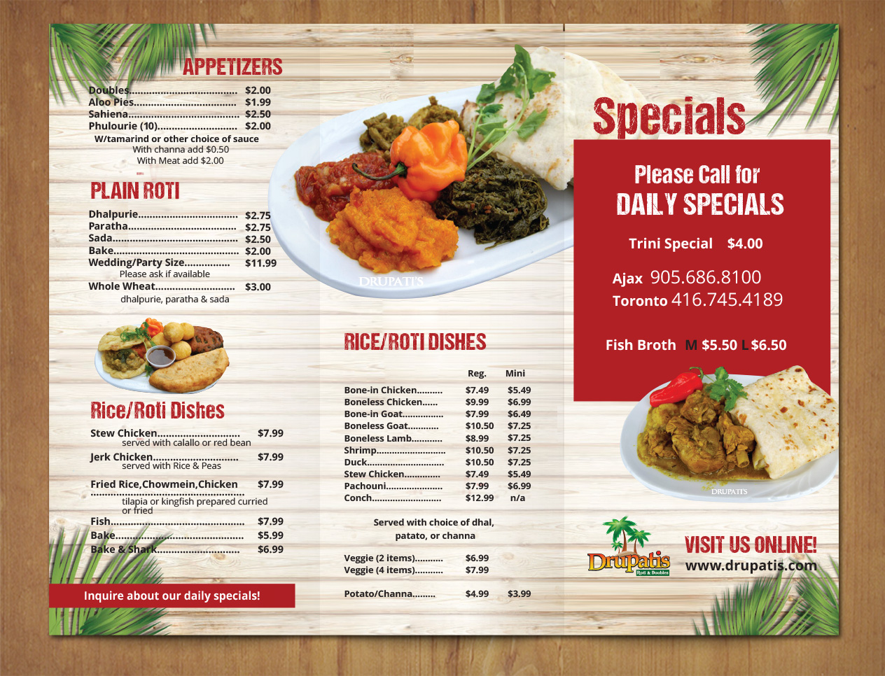 professional bold restaurant flyer design for a company by mnm