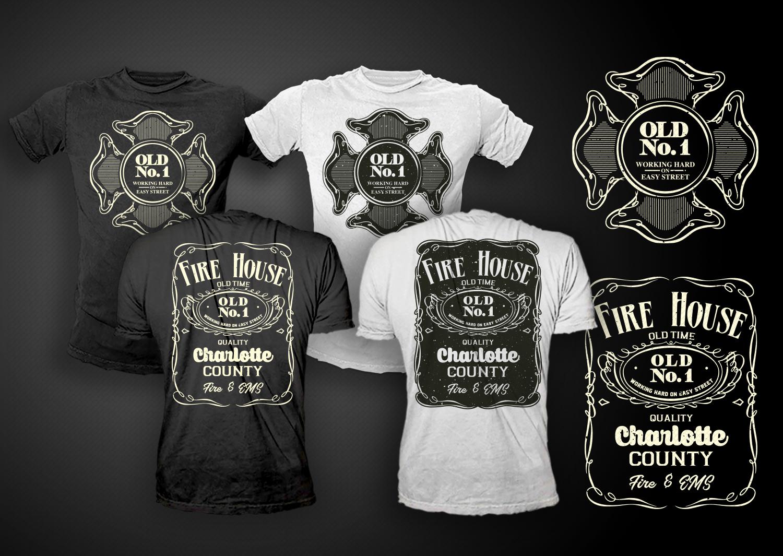 Traditionel Sympatisch Fire Department T Shirt Design Fur A