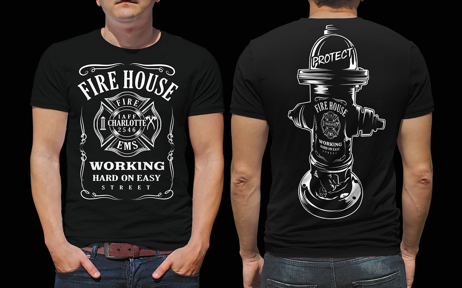 Traditional Personable Fire Department T Shirt Design For A