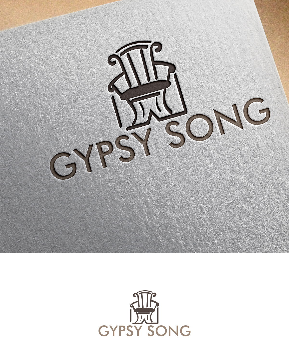 Elegant serious home furniture logo design for g or gsd or gypsy logo design by mdstudio for gypsy song design design 17770622 reheart Image collections