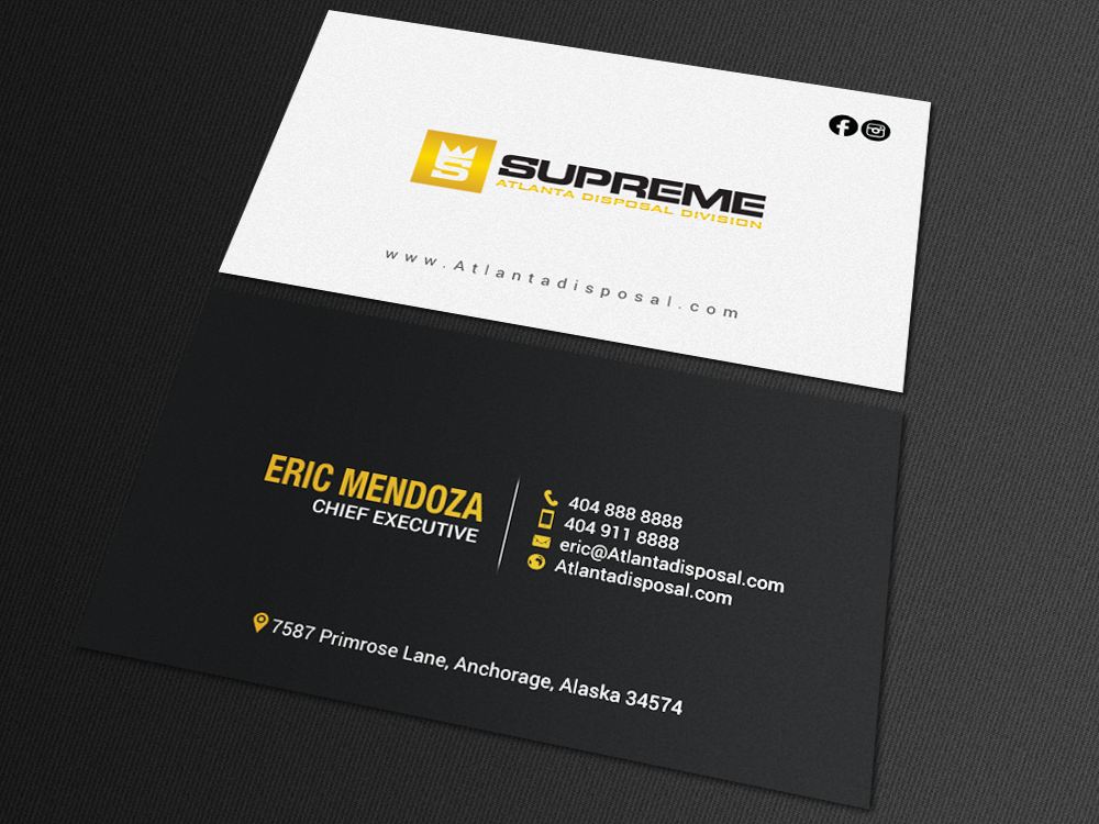 Professional Modern Construction Business Card Design For