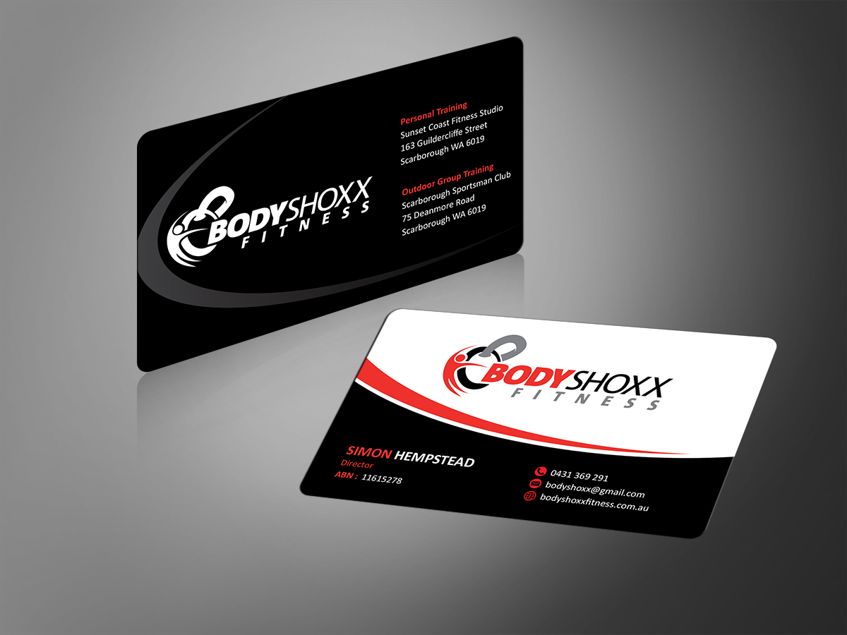 Business Business Card Design for Bodyshoxx Fitness by MT | Design ...