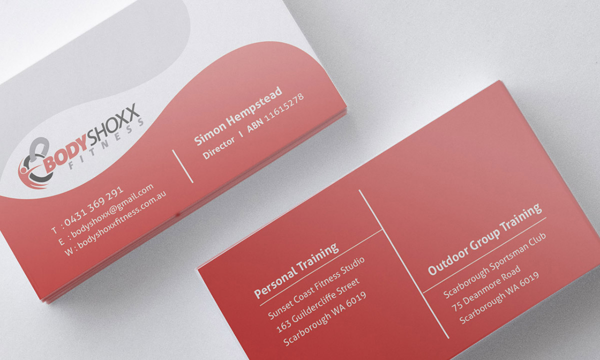 Business Business Card Design for Bodyshoxx Fitness by Brigitte ...