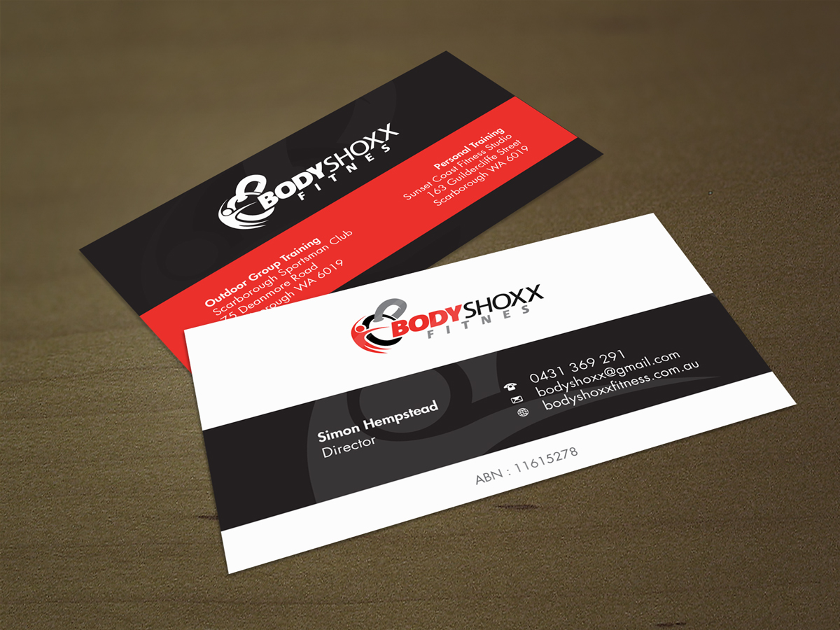 Business Business Card Design for Bodyshoxx Fitness by asimali ...