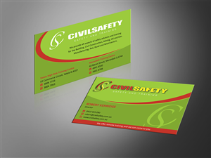 84 professional business card designs training business card business card design by mt for civil safety pty ltd design 2761236 reheart Image collections