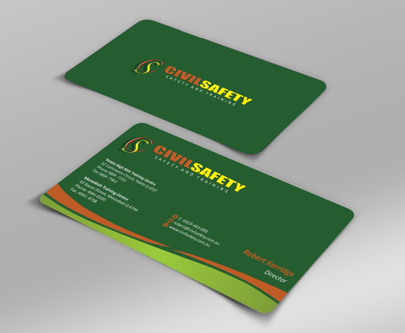 Professional bold training business card design for civil safety business card design by zarnab for civil safety pty ltd design 2757197 reheart