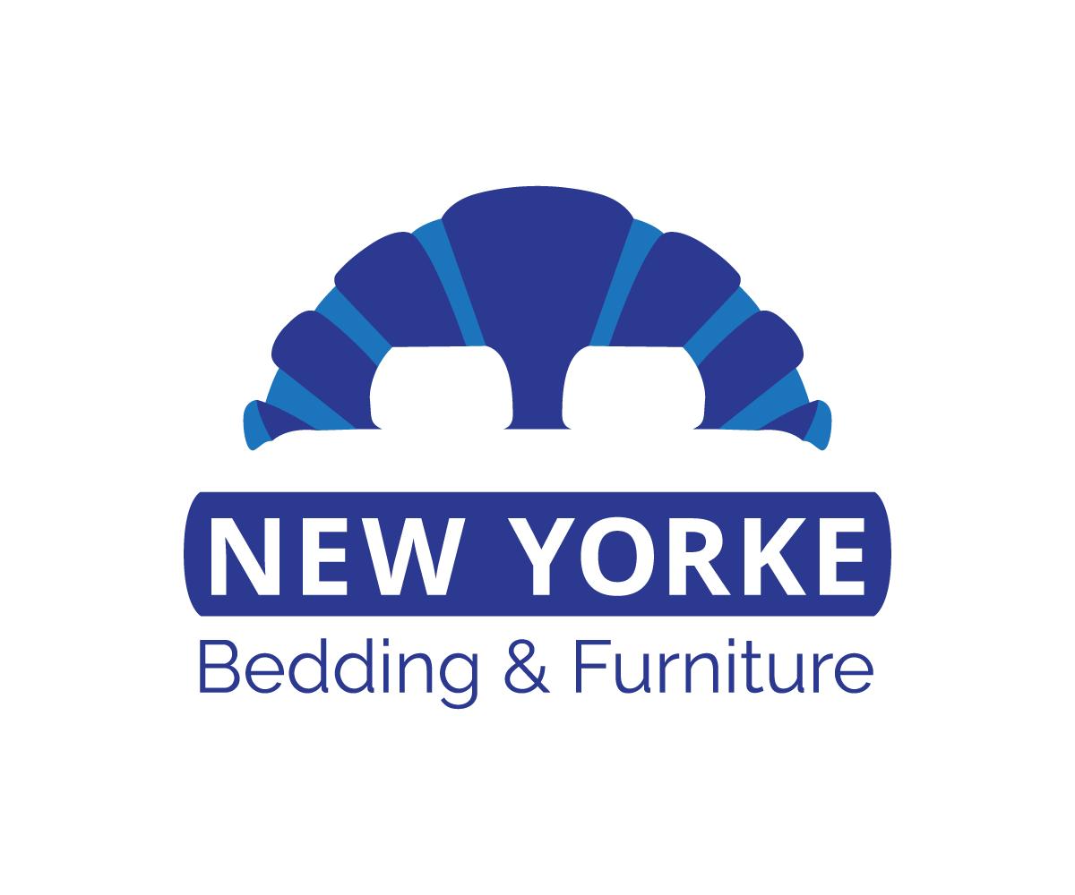 Upmarket Serious Furniture Store Logo Design For New Yorke Bedding