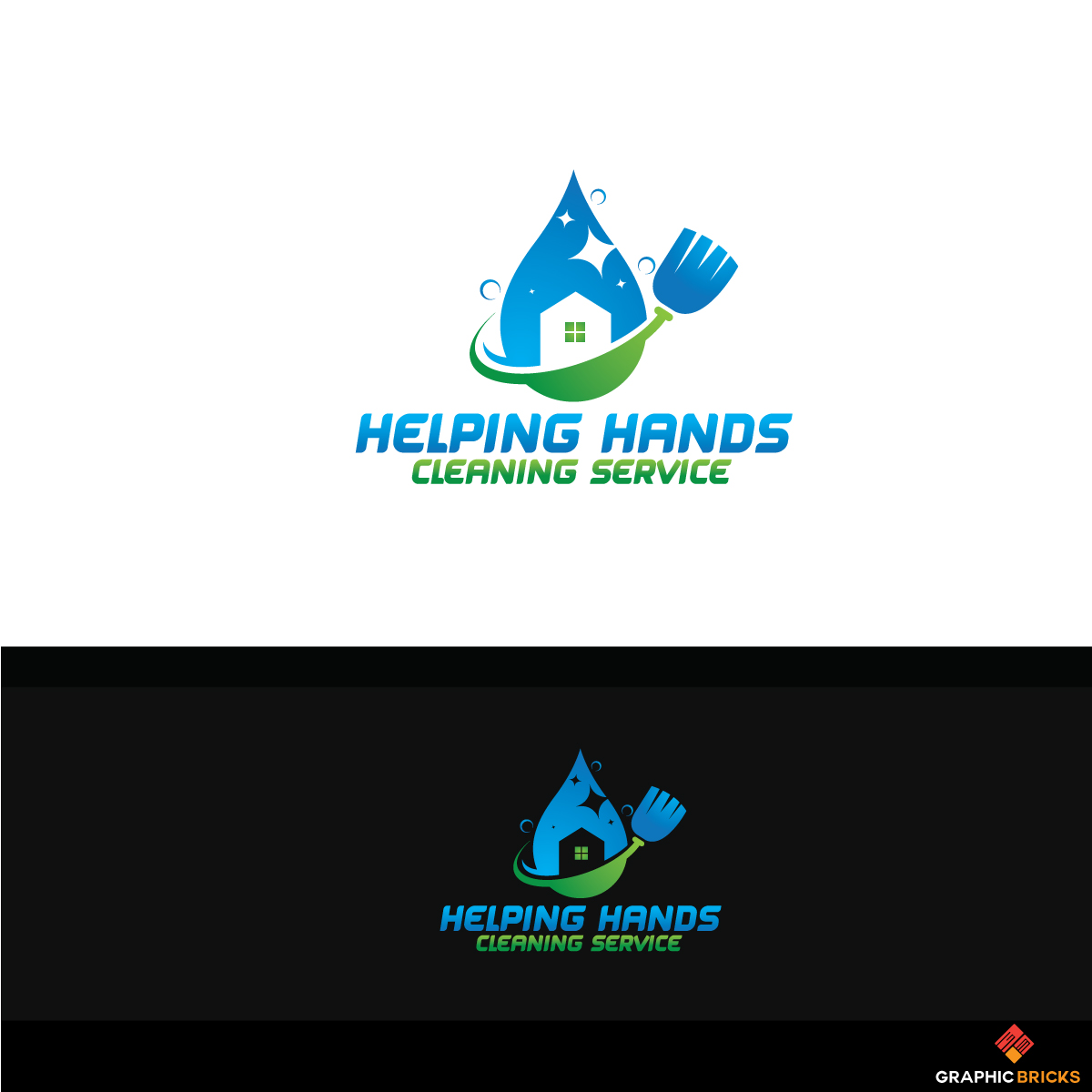 Modern, Professional, House Cleaning Logo Design for HELPING HANDS