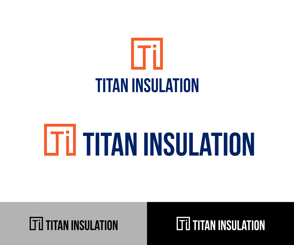 Elegant Playful Construction Logo Design For Titan Insulation By