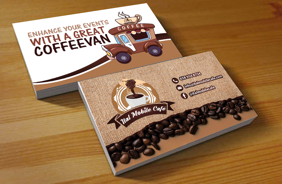 Design De Carte Visite Business Pour Ital Coffee En Aux Australia