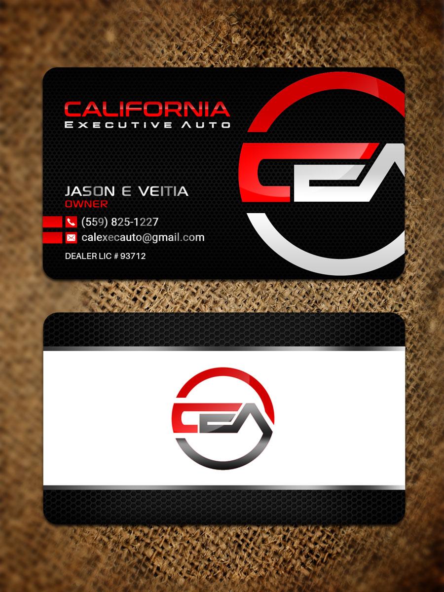 California Executive Auto 67 Visitenkarten Designs Für