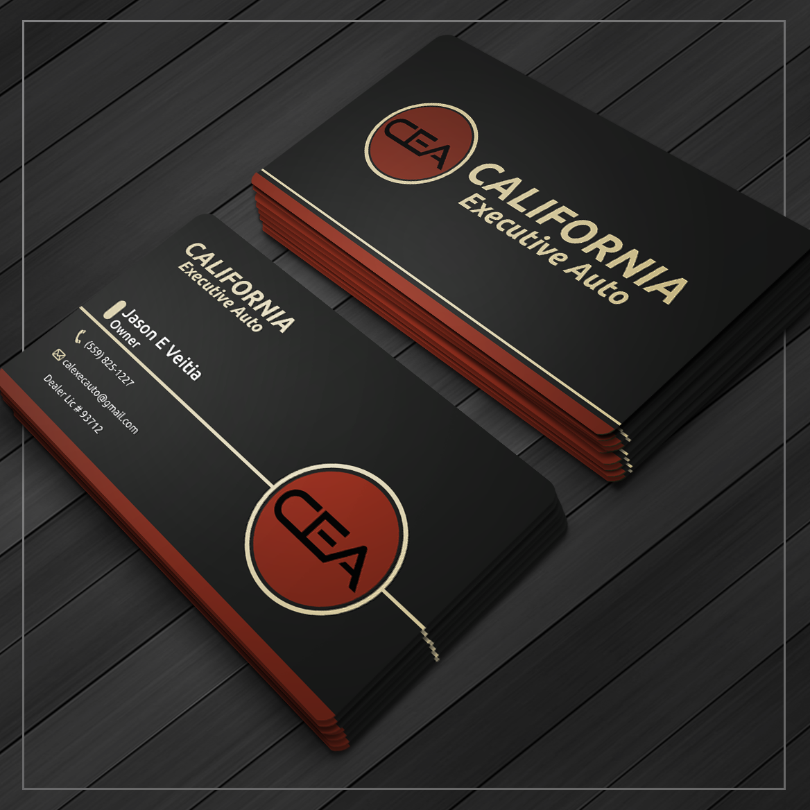 Bold, Modern, Automotive Business Card Design for California ...