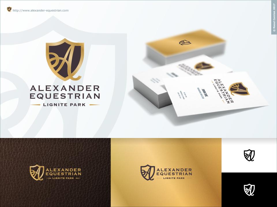 Upmarket, Traditional, Horseback Riding Logo Design for Alexander ...