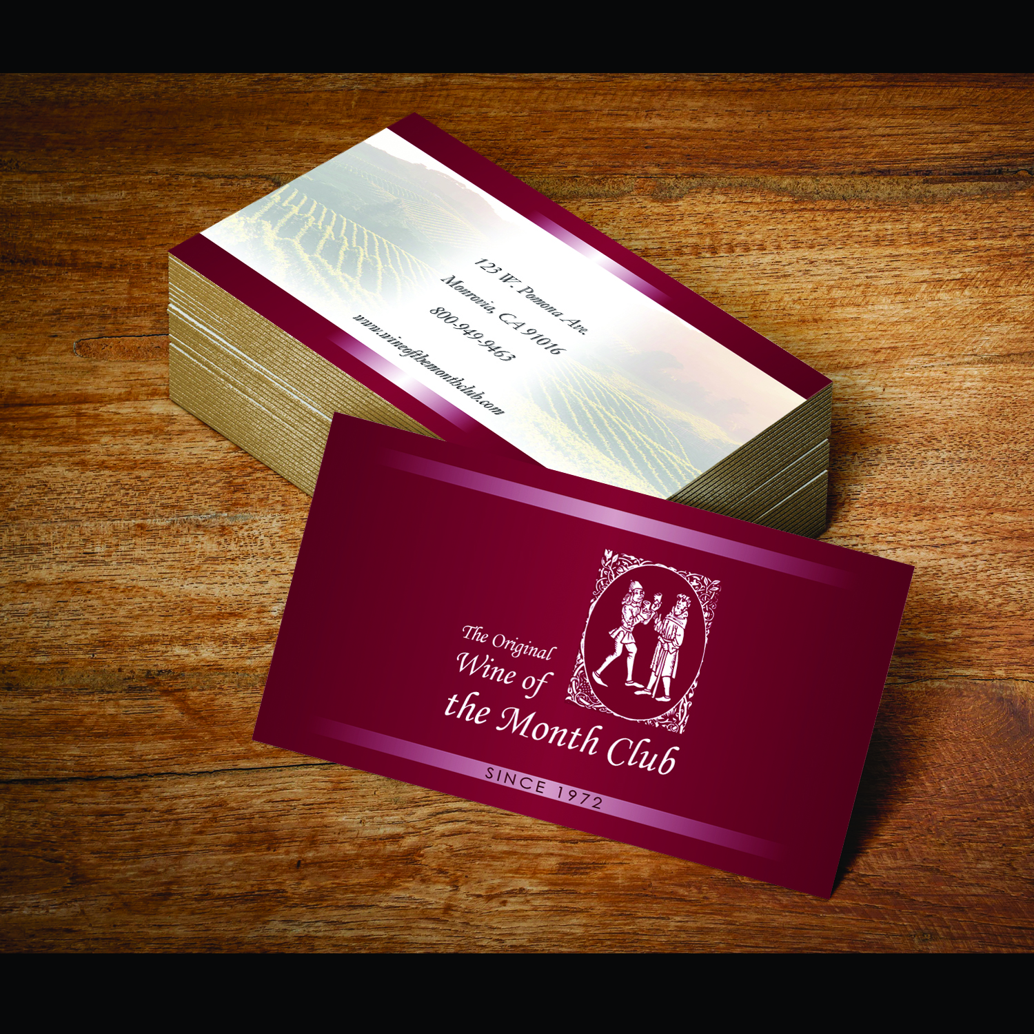Business Business Card Design for Wine of the Month Club by wall ...
