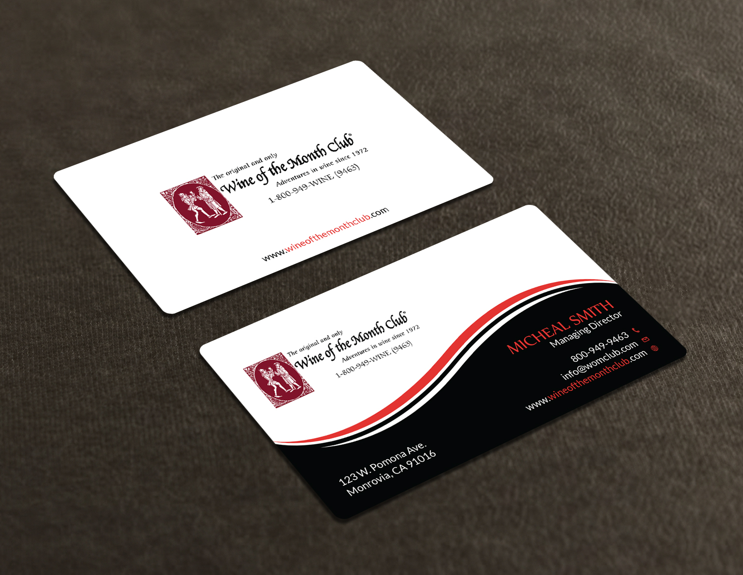Business business card design for wine of the month club by business business card design for wine of the month club in united states design 17824208 colourmoves