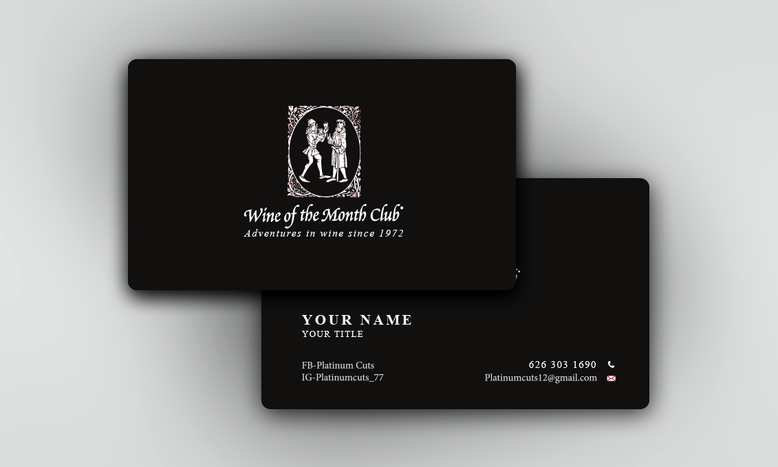 Business Business Card Design for Wine of the Month Club by ...