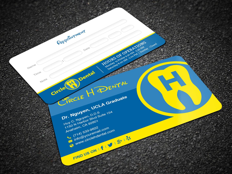 Elegant, Playful, Dental Business Card Design for Circle H Dental by ...