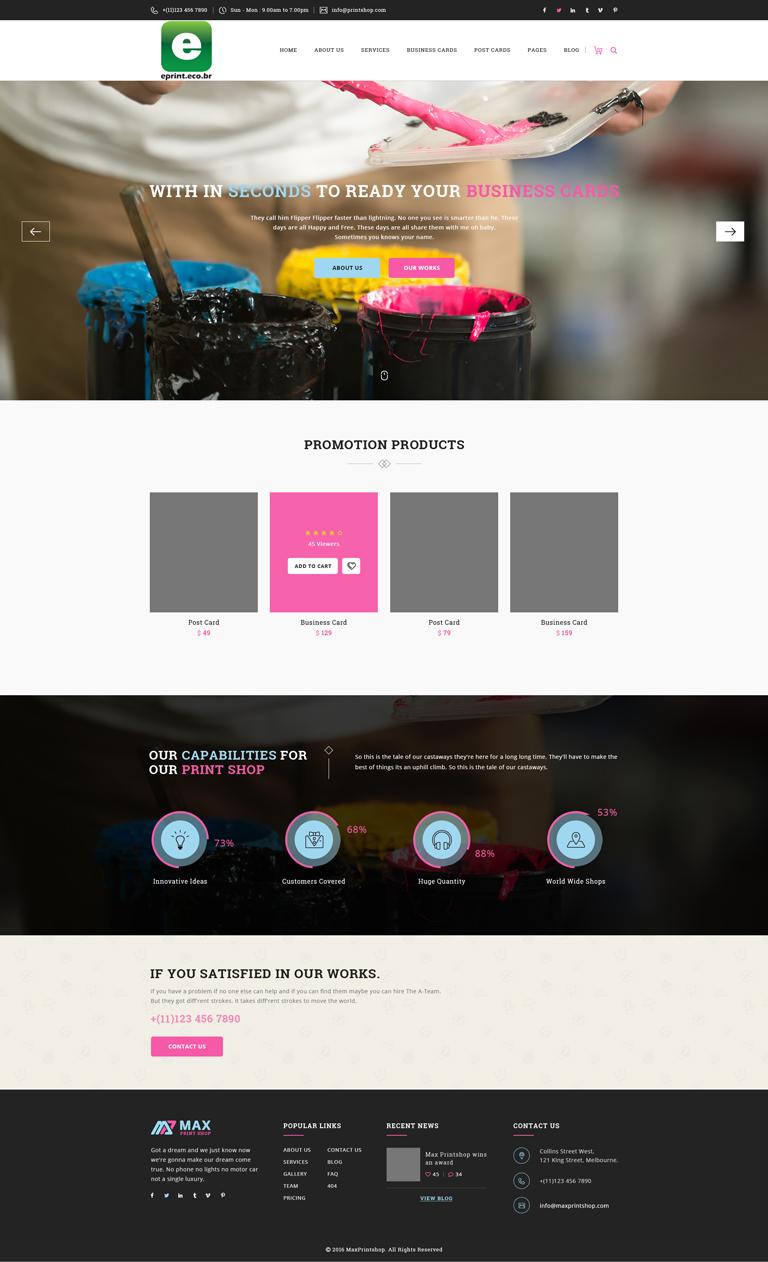 Modern, Professional, Digital Printing Web Design for Eprint