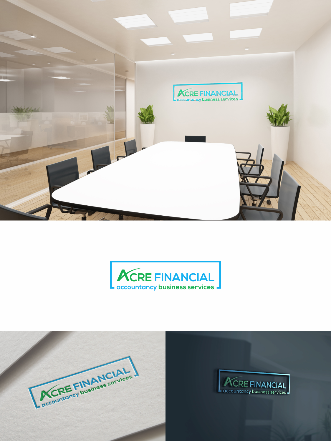 Elegant Playful Finance And Accounting Logo Design For Acre Financial Accountancy Business Services By Optimistic Studio Design 17902843