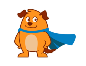 Super Dog Mascot for Digital Marketing Company | Mascot Design by crossforth