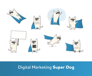 Super Dog Mascot for Digital Marketing Company | Mascot Design by hawk_style