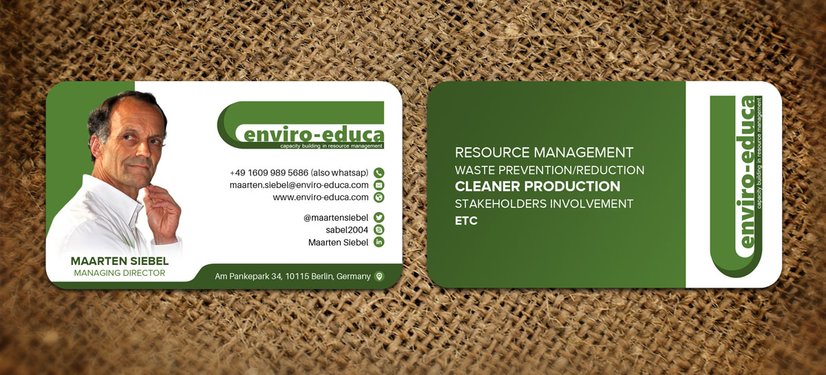 Elegant, Playful, Business Business Card Design for ENVIRO-EDUCA by