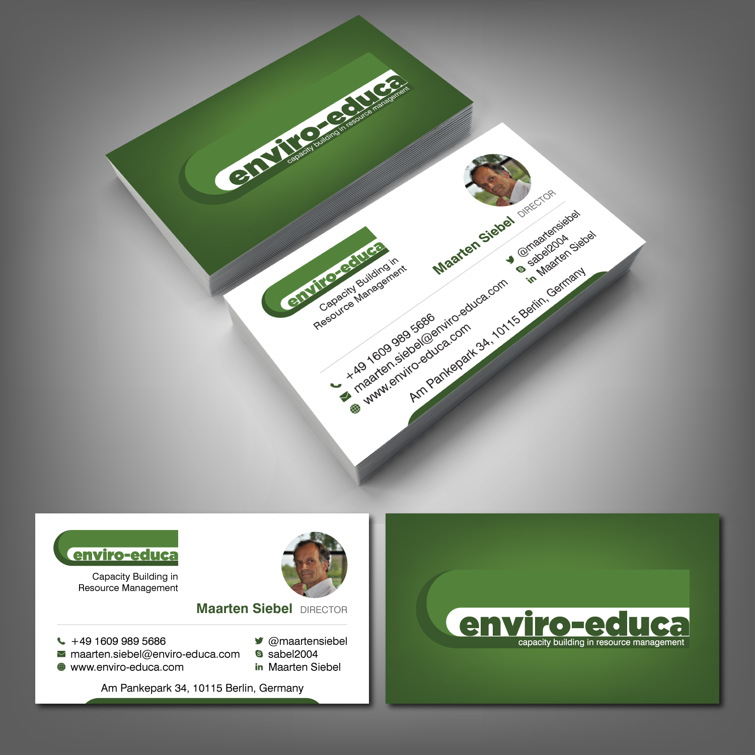Elegant playful business business card design for enviro educa by business card design by adiazudin for enviro educa design 17822632 reheart Gallery