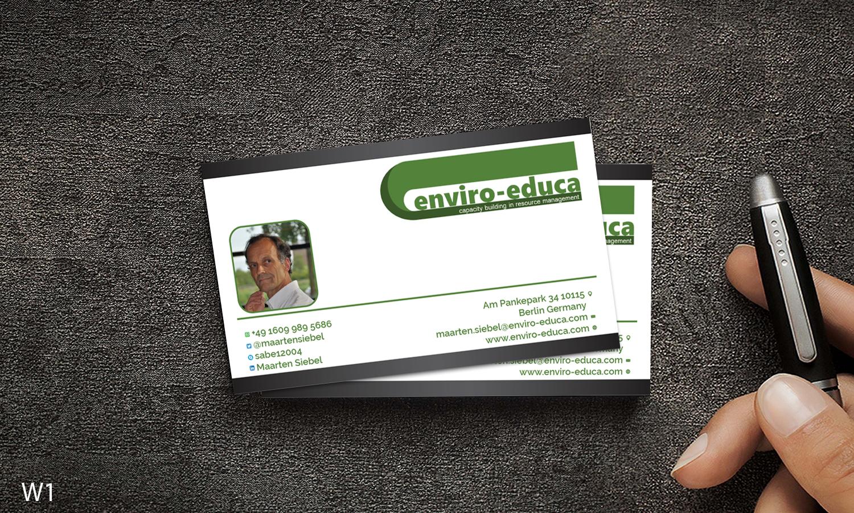 Elegant playful business business card design for enviro educa by business card design by designanddevelopment for enviro educa design 17836345 reheart Gallery