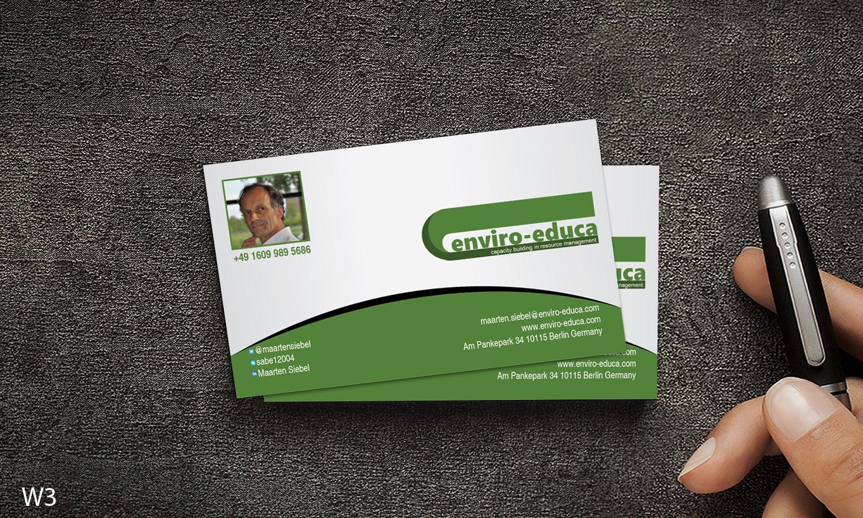 Elegant playful business business card design for enviro educa by business card design by designanddevelopment for enviro educa design 17836348 reheart Gallery