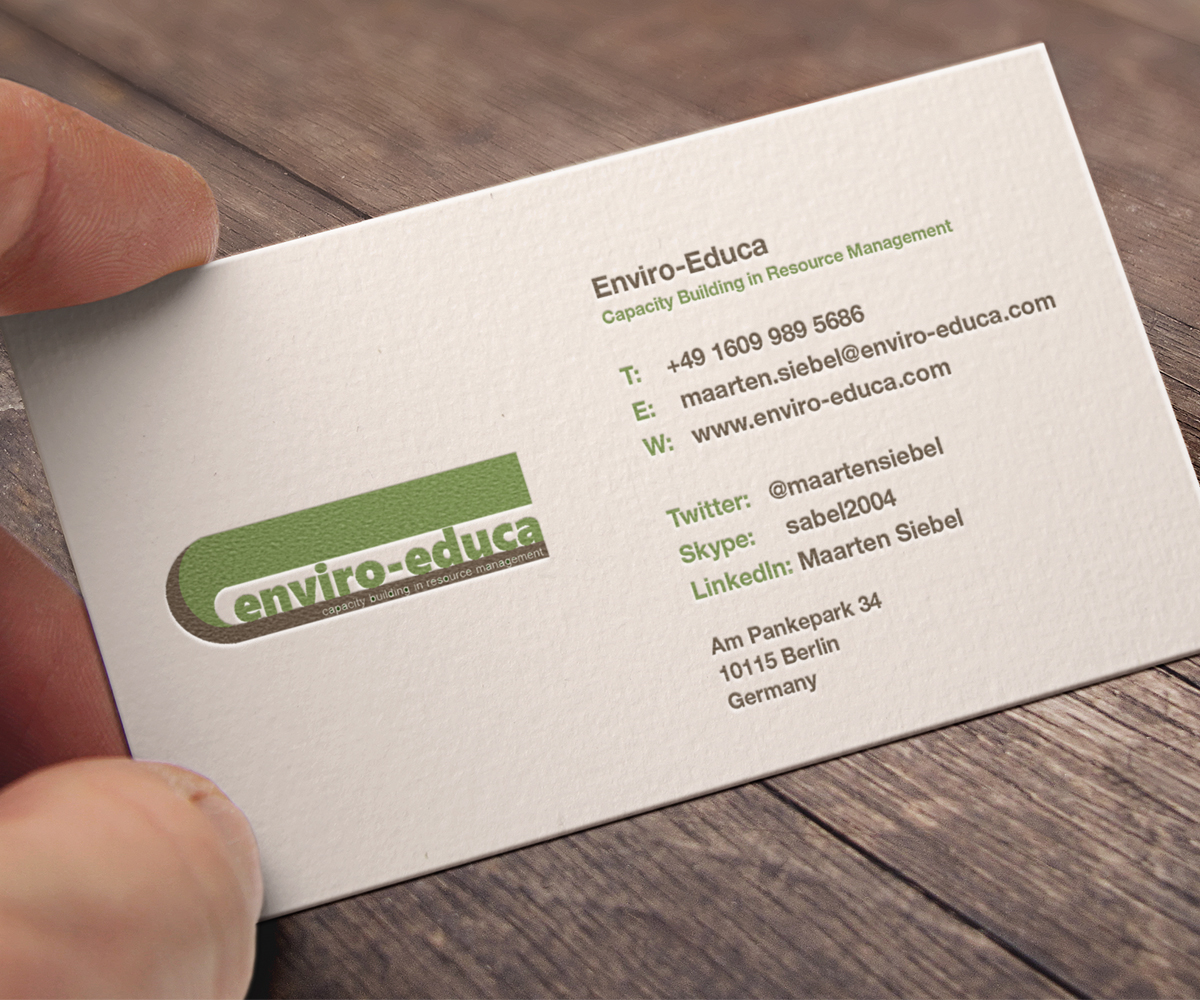 Elegant playful business business card design for enviro educa by business card design by chicd for enviro educa design 17848867 reheart Gallery