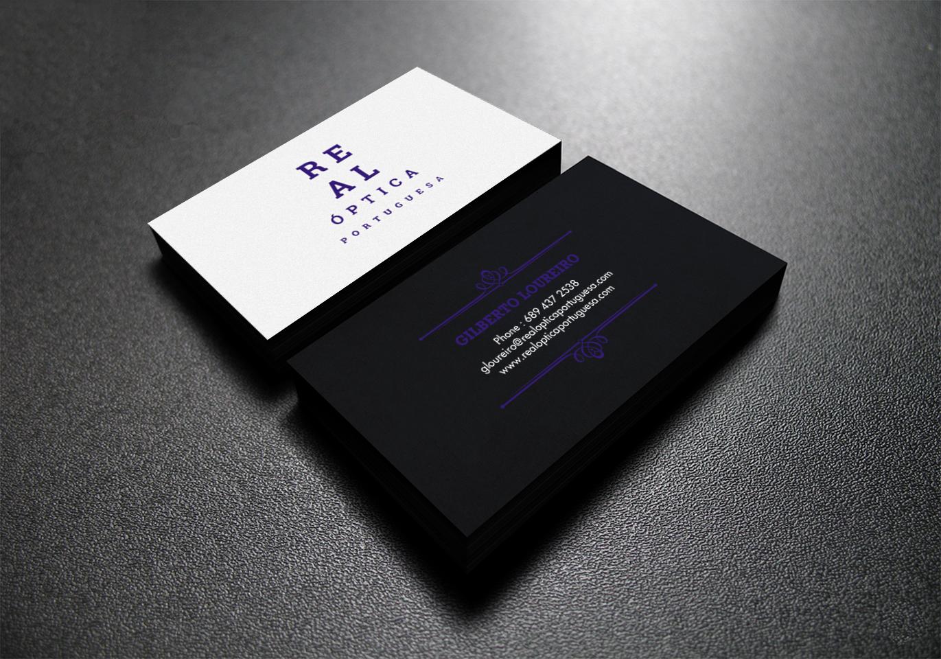 elegante serio eyewear diseño de tarjeta de presentación for vita