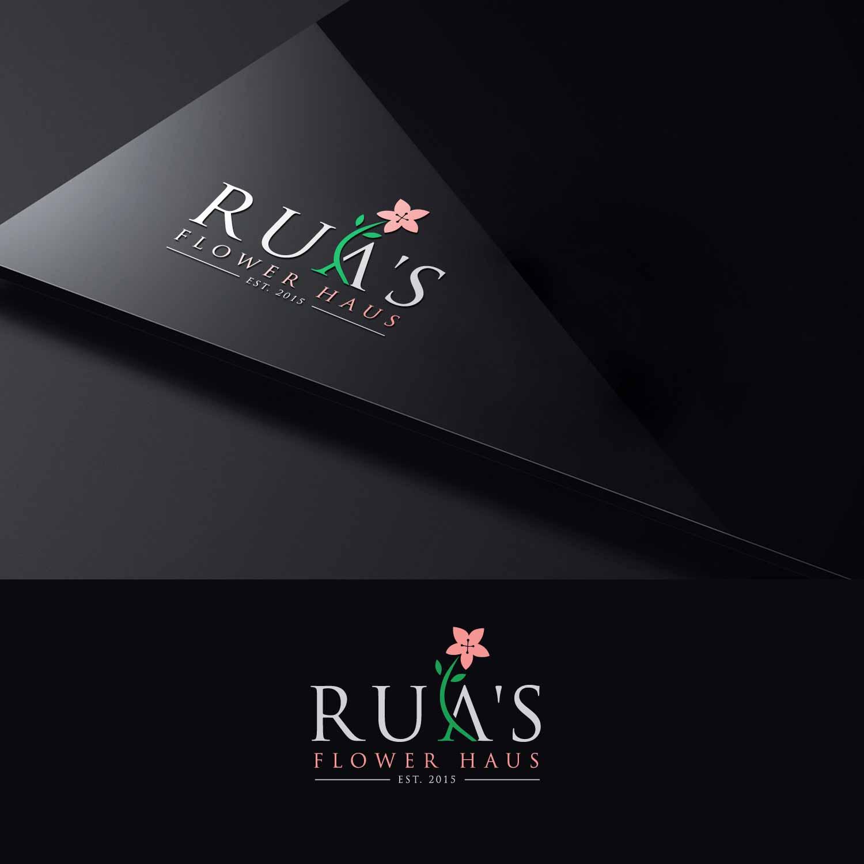 Elegant, Playful, Florist Logo Design for Rua\'s Flower Haus Est ...