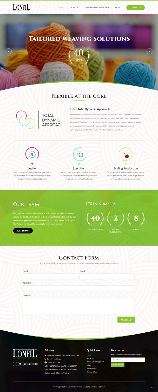 Upmarket, Elegant, Textile Web Design for a Company by pb