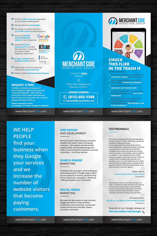 modern bold marketing flyer design for merchantside marketing