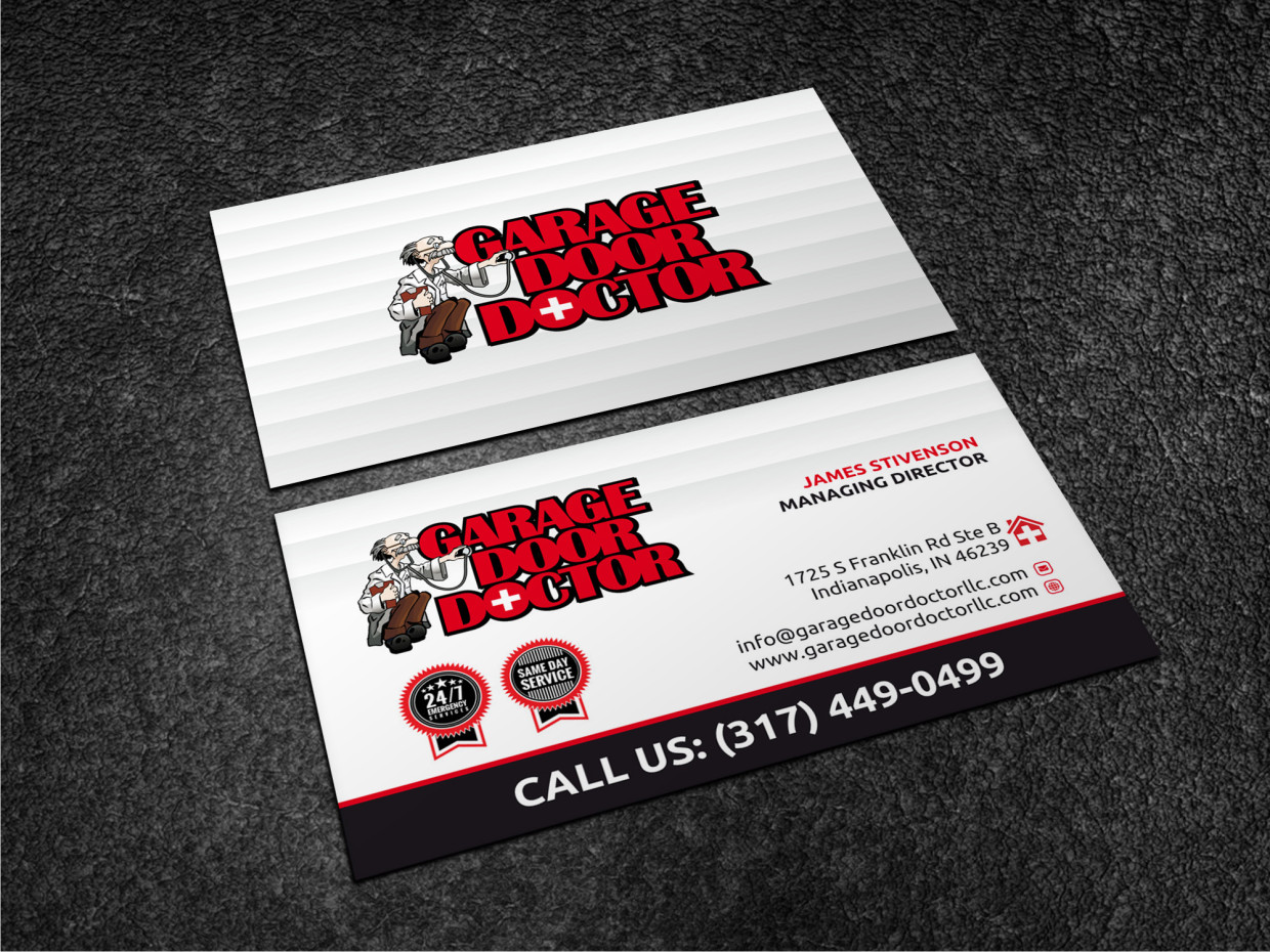 Bold professional business service business card design for a business card design by atvento graphics for this project design 17833644 reheart Choice Image