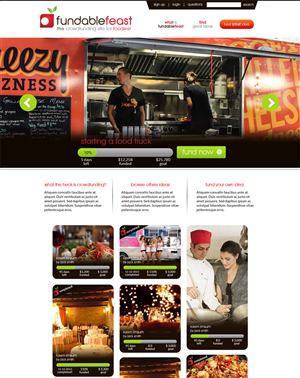 Web Design by Expert Designer - Funding your Foodie Dreams!