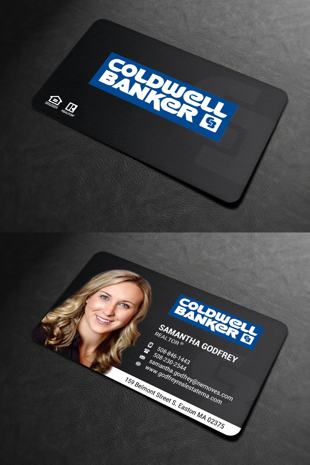 Modern professional real estate agent business card design for business card design by indianashok for godfrey auto inc design 17865394 reheart Gallery