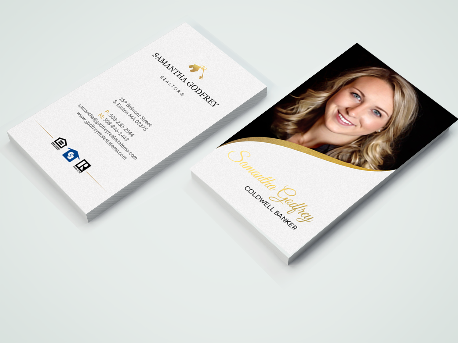 Modern professional real estate agent business card design for business card design by chandrayaaneative for godfrey auto inc design 17847109 colourmoves