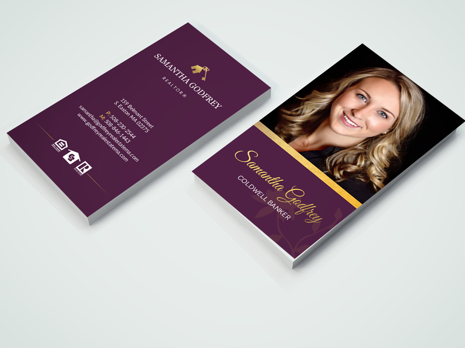 Modern professional real estate agent business card design for business card design by chandrayaaneative for godfrey auto inc design 17847136 reheart Choice Image