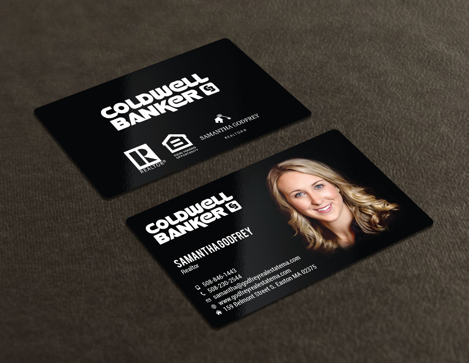 Modern professional real estate agent business card design for business card design by avanger000 for godfrey auto inc design 17847966 reheart Gallery