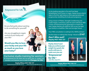 Flyer Design by uk - Womens Personal Training studio needs new year ...