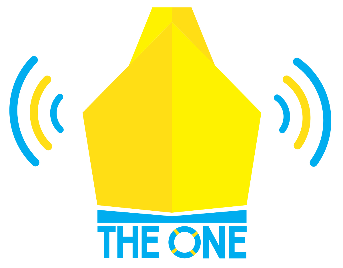 business logo design for the one by james hughes design