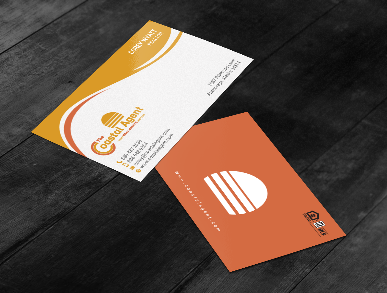 Elegant playful real estate agent business card design for a business card design by chandrayaaneative for this project design 17878569 reheart Gallery