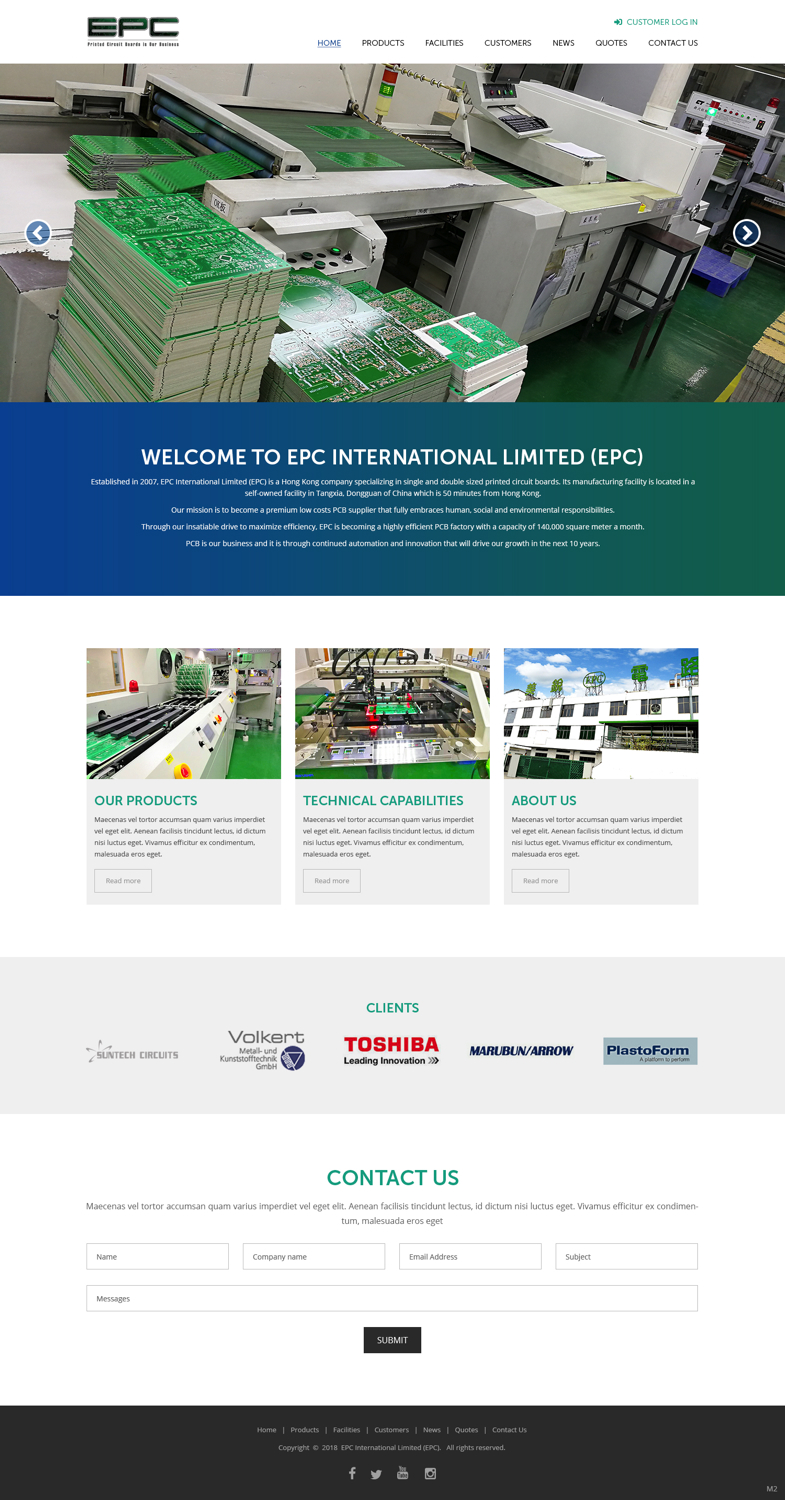 Modern Elegant Electronic Web Design For A Company By Pb Circuit Online In Hong Kong 17881259